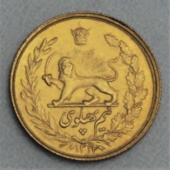 "Goldmünze ""1/2 Pahlavi - Löwe"" (Persien)"