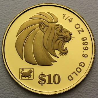"Goldmünze 1/4oz ""Lion"" (Singapur)"
