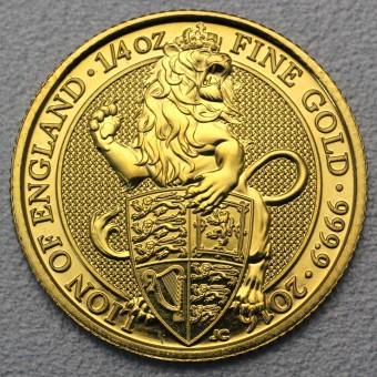"Goldmünze 1/4oz ""Lion of England 2016 Qu. Beast"""