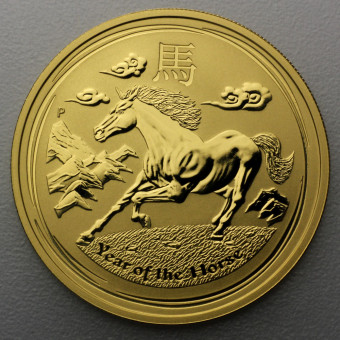 "Goldmünze 1/4oz ""Pferd 2014"" Lunar II"