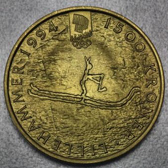 """Goldmünze """"1500 Kroner-1991 Olaf V."""" (Norwegen)"""