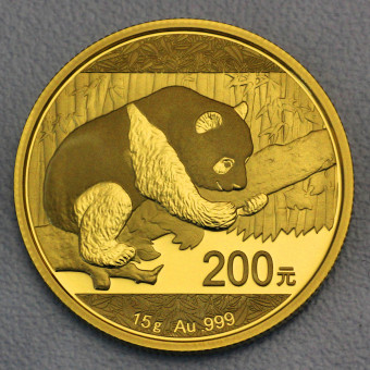 """Goldmünze 15g """"Panda - 2016"""" (China)"""