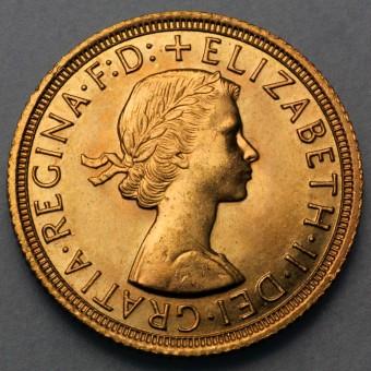 "Goldmünze ""1 Sovereign/Elisabeth II."" (UK)"