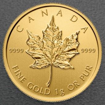 "Goldmünze 1g ""Maple Leaf"""