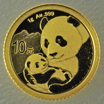 """Goldmünze 1g """"Panda - 2019"""" (China)"""