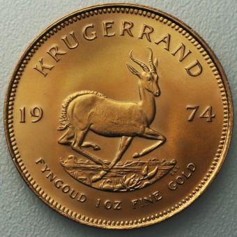 "Goldmünze 1oz ""Krügerrand 1974"""
