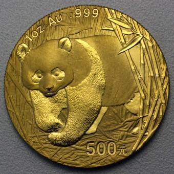 """Goldmünze 1oz """"Panda - 2001"""" (China)"""