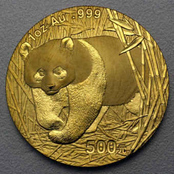 """Goldmünze 1oz """"Panda - 2002"""" (China)"""