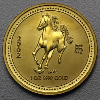 "Goldmünze 1oz ""Pferd 2002"" Lunar I"