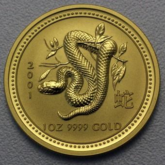 "Goldmünze 1oz ""Schlange 2001"" Lunar I"