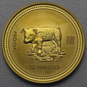 "Goldmünze 1oz ""Schwein 2007"" Lunar I"