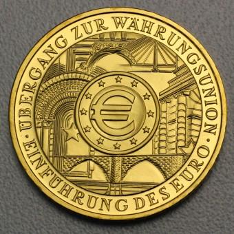 """Goldmünze """"200Euro BRD 2002 Euro-Einführ."""",Kapsel"""