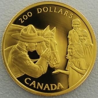 """Goldmünze 200 Dollar """"Mounted Police 1993"""" (Kanada"""