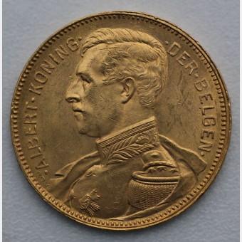 "Goldmünze ""20 Francs/Albert"" (Belgien)"