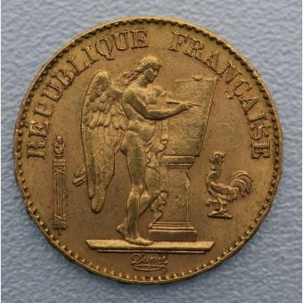 "Goldmünze ""20 Francs/Engel-Republik"" (Frankr.)"