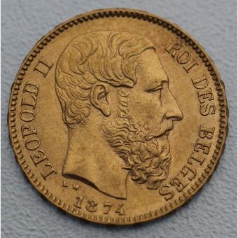 "Goldmünze ""20 Francs/Leopold II."" (Belgien)"