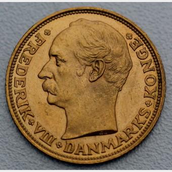 """Goldmünze """"20 Kronen/Frederik VIII."""" (Dänemark)"""