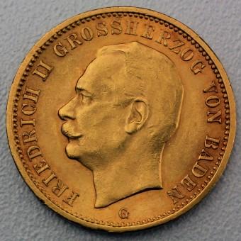 "Goldmünze ""20 Mark Friedrich II."" (Baden)"