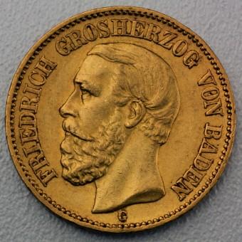 "Goldmünze ""20 Mark Friedrich I."" (Baden)"