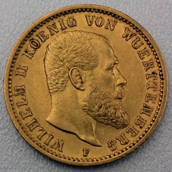 "Goldmünze ""20 Mark König Wilhelm II."" (Württmbg.)"