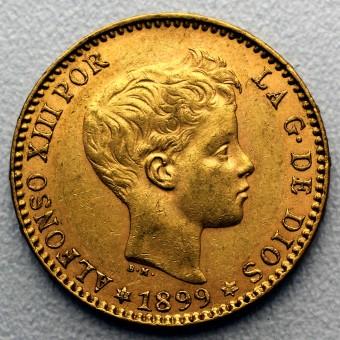 "Goldmünze ""20 Pesetas - Alfonso XIII."" (Spanien)"