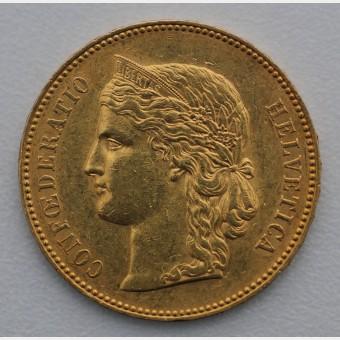 """Goldmünze """"20 SFR/Helvetia"""" (Schweiz)"""