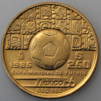 "Goldmünze ""250 Pesos Fußball-WM 1986"" (Mexiko)"