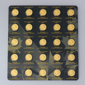 "Goldmünze (25x 1g) ""Maple Leaf/Maplegram"""