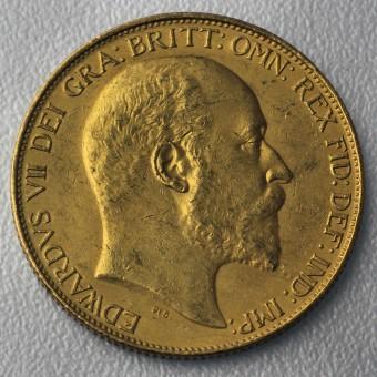 "Goldmünze ""2 Sovereign/Edward VII."" (UK)"