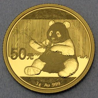 """Goldmünze 3g """"Panda - 2017"""" (China)"""