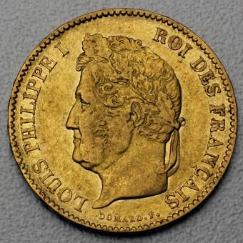 "Goldmünze ""40 Francs/Louis Philippe I."" (F)"