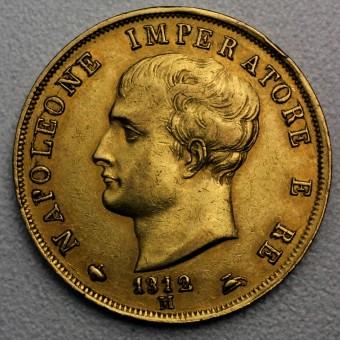 "Goldmünze ""40 Lire/Napoleon Imperator"" (Italien)"