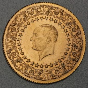 """Goldmünze """"500 Piaster - Monnaie de Luxe"""" (Türkei)"""