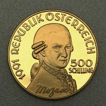 "Goldmünze ""500 Schilling-1991 Mozart,Don Giovanni"""
