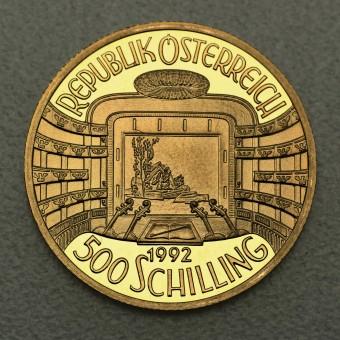 """Goldmünze """"500 Schilling-1992 Staatsoper"""""""
