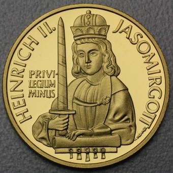 """Goldmünze """"500 Schilling-1996 Jasomirgott"""""""