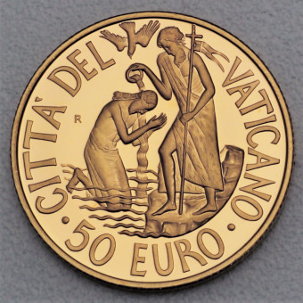 "Goldmünze ""50 Euro-2005 Die Taufe"" (Vatikan)"