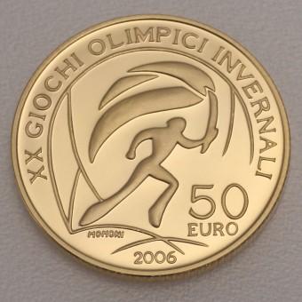 """Goldmünze """"50 Euro-2006 Olymp. Flamme"""" (Italien)"""