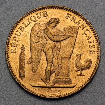 "Goldmünze ""50 Francs/Engel-Republik"" (Frankr.)"