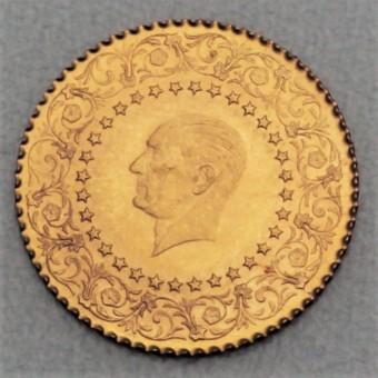"""Goldmünze """"50 Piaster - Monnaie de Luxe"""" (Türkei)"""