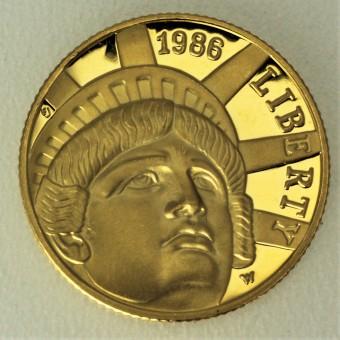 """Goldmünze """"5 Dollar 1986-Freiheitsstatue"""" (USA)"""