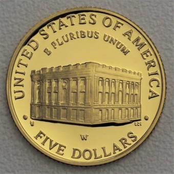 "Goldmünze ""5 Dollar 2001-Capitol Visitor Center"""