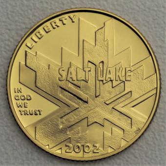"Goldmünze ""5 Dollar 2002-Olympic Salt Lake City"""