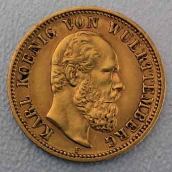 "Goldmünze ""5 Mark Karl"" (Württemberg)"