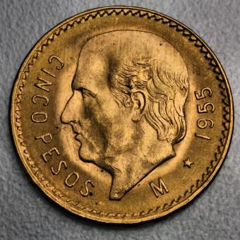 "Goldmünze ""5 Pesos Hidalgo"" (Mexiko)"