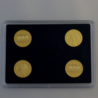 "Goldmünze ""Philharmoniker"" (4x 1/4oz Au),Blister"