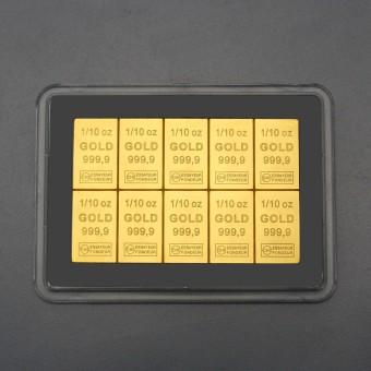 """Goldtafel (10x 1/10oz Feingold) """"CombiBar"""""""
