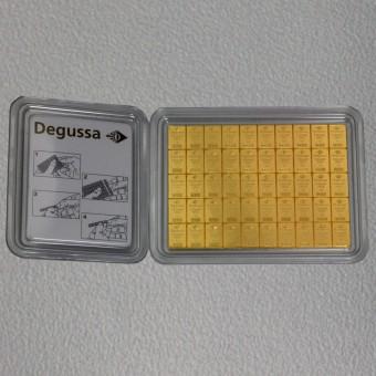 """Goldtafel DEGUSSA (50x 1g Gold) """"CombiBar"""""""