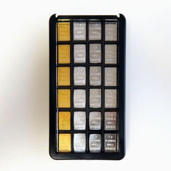 Quattro-Box (4x6g Au,Ag,Pd,Pt) in CombiPurse