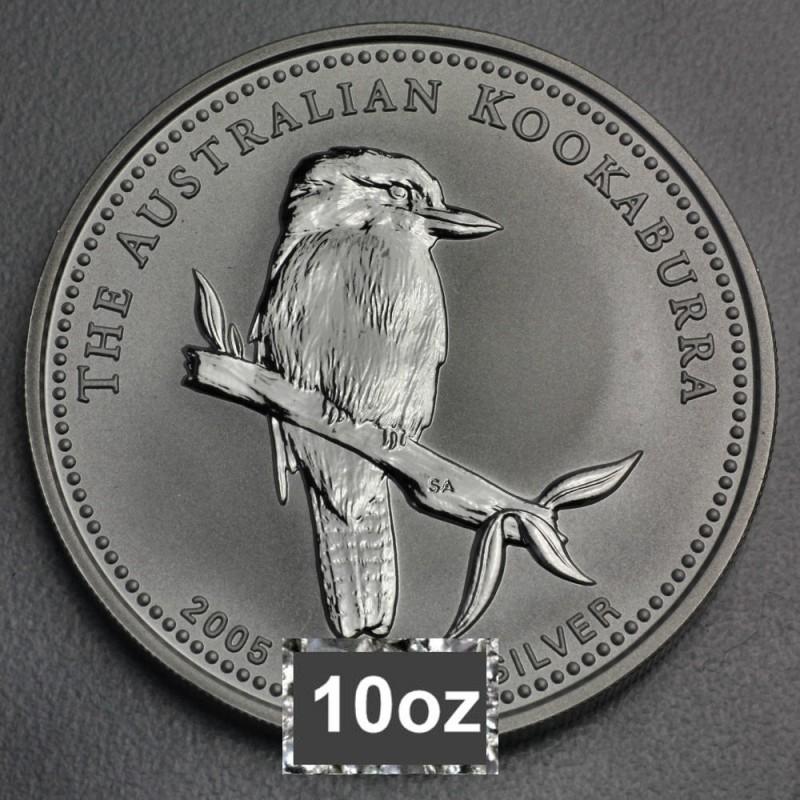 Silbermünze Kookaburra 10 Oz 2005
